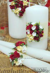 Семейный очаг - набор из трех свечей можно отдельно, свадебные свечи