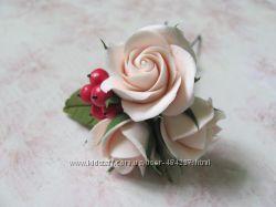 Шпилька для волос с розами