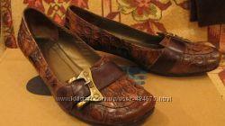 Кожаные туфли, размер 37