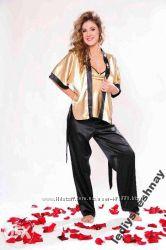 Роскошная атласная пижама - Тройка