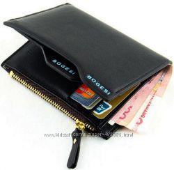 Стильный мужской кошелек, портмоне с правником. ЕК1