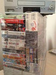 160 кассет с фильмами  видеомагнитофон