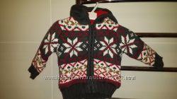 Новая теплая кофта-куртка на рост до 68 см