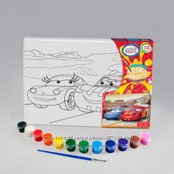 Набор для творчества Раскраска на холсте 2шт в наборе