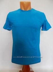 Детская летняя футболка р. 36-42 голубая