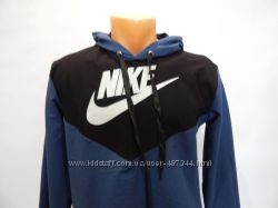 Детская весенняя толстовка Nike черный с темно-синим р. 42-44