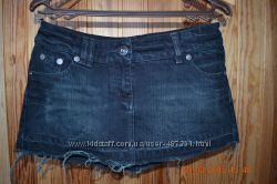 Модная джинсовая юбка c родными потертостями River Island limited edition