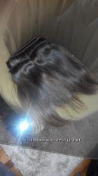 натуральние волоси каштановие 4 пряди