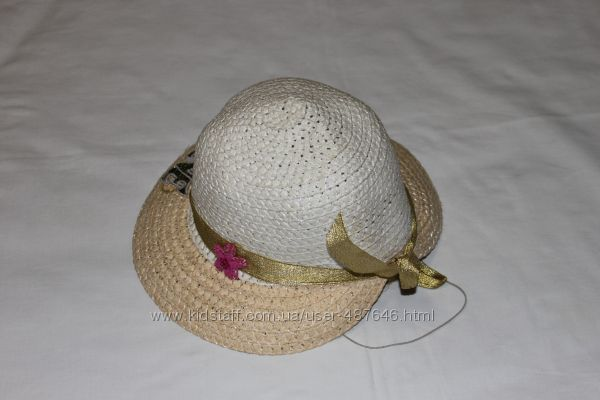 панамка-капор плетеная с большим козырьком, обхват 50см