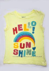 футболка желтая GAP на девочку 6-7лет, длина 43см,