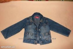 Джинсовая куртка, курточка на девочку 1, 5-2 года,  GLORIA JEANS, длина 33с