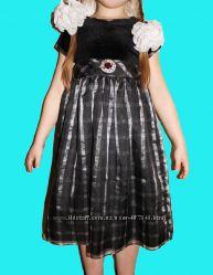 платье нарядное на девочку 5-6лет, велюрорганза