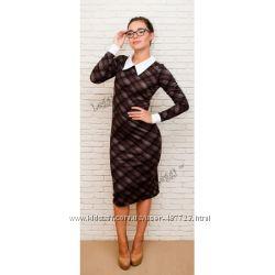 Женское классическое платье с воротничком