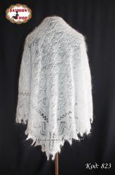 Оренбургский пуховой платок-паутинка
