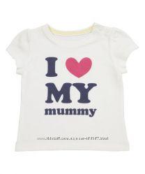 Продам новые футболочки MOTHERCARE на девочек