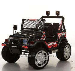 Детский электромобиль джип S-618EBRS-2 карбон