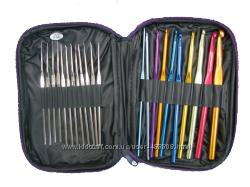 Набор крючков для вязания в чехле