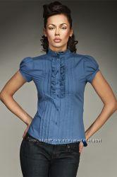 Блуза небесного цвета р. L 46-48