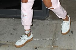 Puma suede creepers Rihanna white