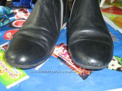 Демисезоные сапоги без каблука