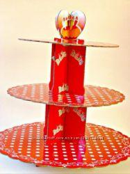 Картонні підставки до свята для капкейків та кексів
