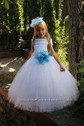 Платье на 3-4 года нарядное пышное длинное