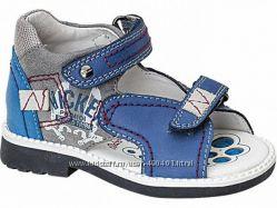 Кожаные ортопедические сандали Лапси 21, 23 размеры