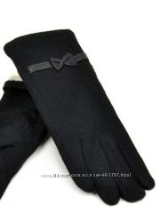 Перчатки женские, натуральная кожа, кашемир
