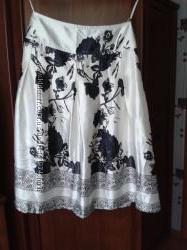 Атласная легкая юбка за колено