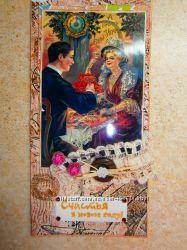 новогодние открытки, шоколадницы скрапбукинг