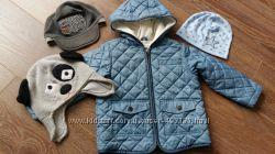 Тёплая модная стеганая курточка, зимняя куртка Next, парка мальчику.