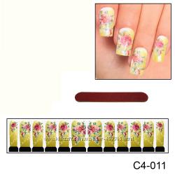 Наклейки для ногтей дизайн С 4-011