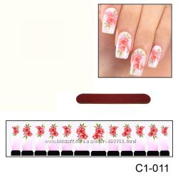 Наклейки для ногтей дизайн С 1-011