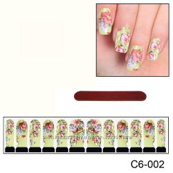 Наклейки для ногтей дизайн С 6-002
