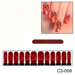 Наклейки для ногтей дизайн С 3-009