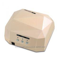 Лампа для ногтей LED  CCFL   36 Вт, с таймером, цвет шампань , в наличии