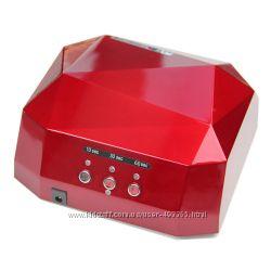 Лампа для ногтей LED CCFL 36 Вт, с таймером, цвет красный , в наличии