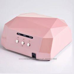 Лампа качественная для ногтей LED CCFL 36 Вт, с таймером, цвет розовый