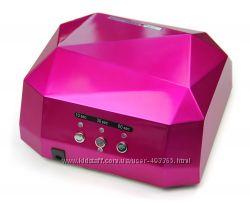 Лампа для ногтей LED CCFL 36 Вт, с таймером, цвет красная роза , в наличии