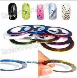 Лента для ногтей в наборе, украшение для маникюра