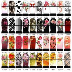 Наклейки для ногтей , дизайн цветной