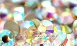 Стразы хрустальные  набор 8 размеров   Cristal AB - голографик, на выбор