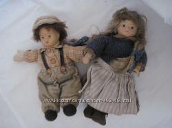 Коллекционные  фарфоровые куклы пара