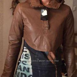 Новая кожанная куртка Twin-set оригинал Италия кожа. Снижена цена