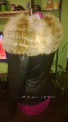 Куртка с воротником из меха лисы