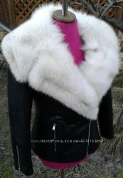 Куртка косуха с мехом песца в наличии