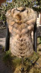 Куртка трансформер с мехом енота в наличии