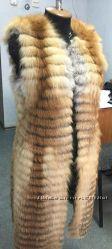 Жилет из меха лисы в роспуск в наличии размер С