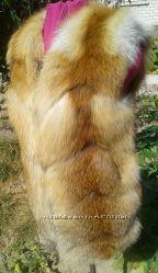 Жилет из натурального меха лисы в наличии размер С