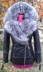 Куртка косуха стеганая из натуральной кожи новинка